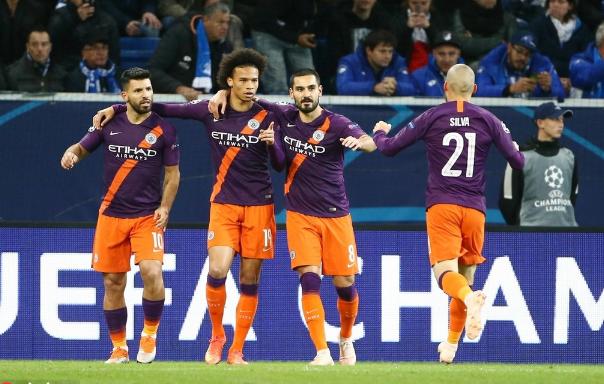 曼城2-1霍村取欧冠首胜,席尔瓦绝杀