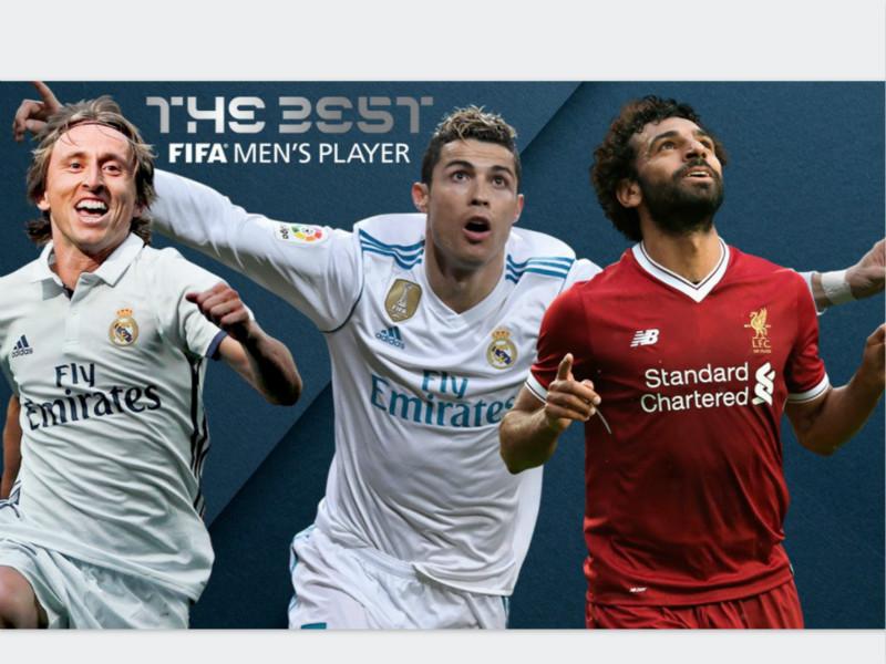 FIFA年度最佳候选:C罗、莫德里奇,萨拉赫入围