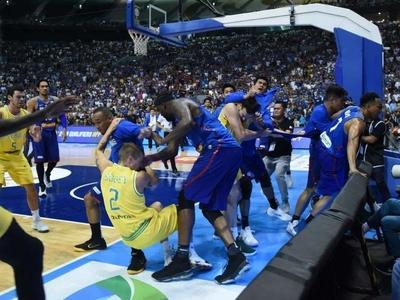 先打球热热身?菲律宾联赛某年度冲突集锦