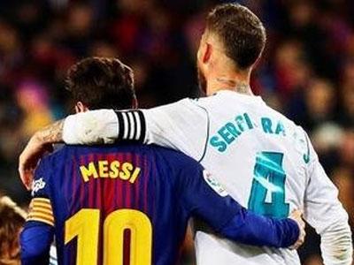 即将成为队友?拉莫斯与梅西对决精彩锦集