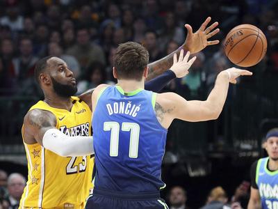 全明星赛上和LBJ空接?东契奇:当然,但我知道我不是接球扣篮的那个人