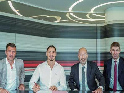 官方消息,伊布與AC米蘭續約至2021年