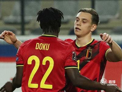 特罗萨德双响,本特克破门,比利时多点开花8-0狂胜白俄罗斯