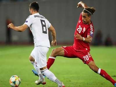 歐預賽丹麥客場挑戰格魯吉亞,雙方均無建樹