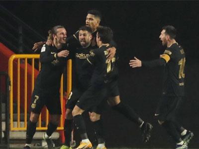 格列兹曼两传两射,德容破门,国王杯巴塞罗那加时5-3逆转格拉纳达