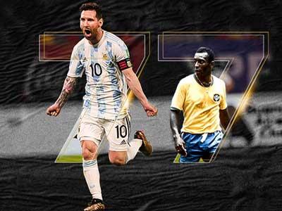 梅西演出帽子戏法,进球超贝利纪录,阿根廷3-0轻取玻利维亚