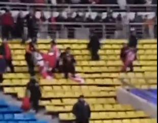 亞泰球迷撕旗幟,表達憤怒情緒
