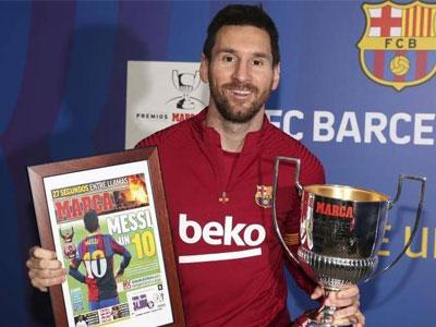 马卡报颁奖结果出炉,梅西获最佳射手,本泽马夺最佳球员