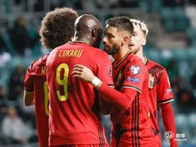 卢卡库双响,阿扎尔送助攻,世预赛比利时5-2大胜爱沙尼亚