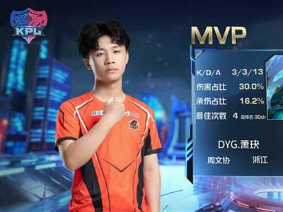 KPL秋季賽:蕭玦兩拿MVP,DYG零封TES