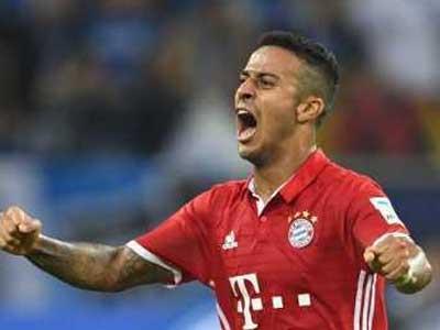 拜仁允许蒂亚戈离队,但转会费至少为3000万欧元