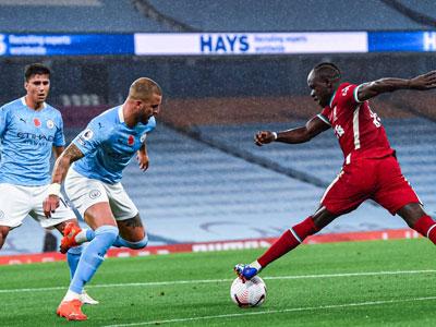 德布劳内助攻加失点,曼城主场1-1战平利物浦