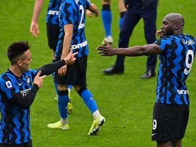 劳塔罗双响,卢卡库传射,国际米兰3-0战胜AC米兰