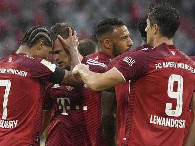 格纳布里双响,莱万破门,拜仁主场3-2小胜科隆