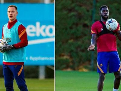 巴塞罗那官方消息,球队门将特尔施特根以及后卫乌姆蒂蒂回归训练