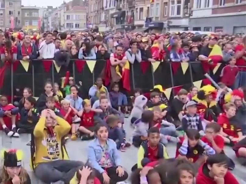 冰火兩重天!法國和比利時球迷看球反應相差太大