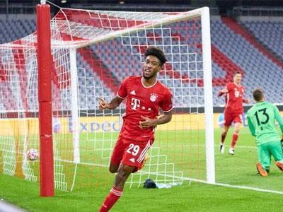官方消息,拜仁慕尼黑边锋科曼当选本周欧冠最佳球员