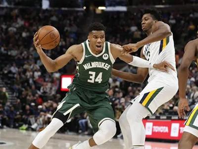 NBA季前赛-米切尔12分,字母哥21+6,爵士主场逆转雄鹿