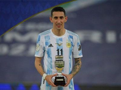 官方消息,迪马利亚当选美洲杯决赛最佳球员