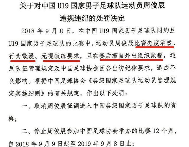 真相:禁赛1年冤吗?申花小将周俊辰实则是为某些国脚背了黑锅!
