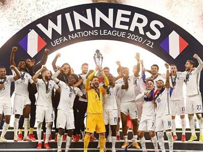 本泽马破门,姆巴佩传射,欧国联决赛法国2-1逆转西班牙夺冠