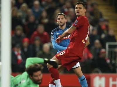 利物浦主场战平那不勒斯,法比尼奥伤退洛夫伦破门