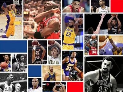 美媒发布前史75位最巨大球员榜单前15名:乔1、詹2、杜13、库15